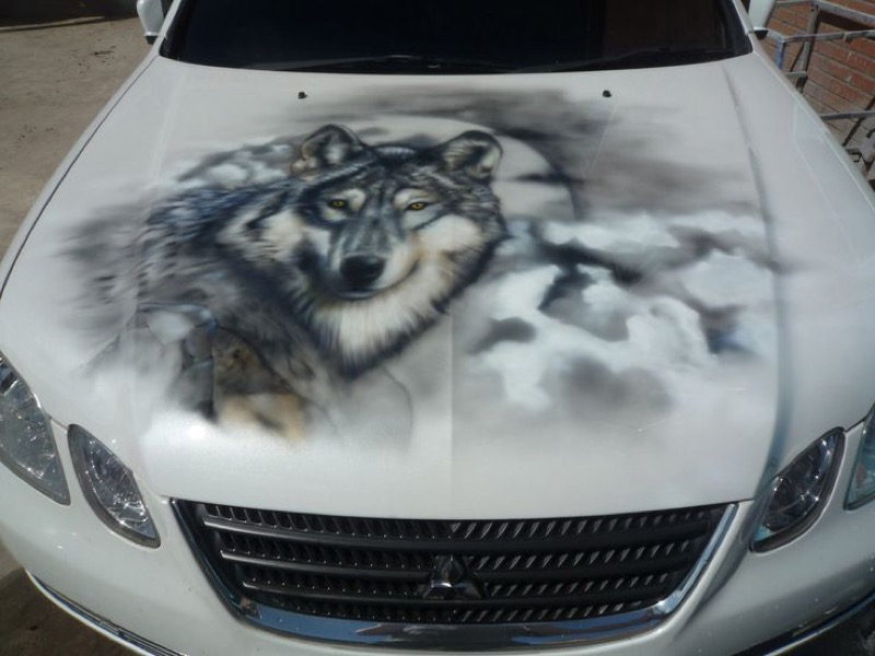 картинки волк на капот авто повезло
